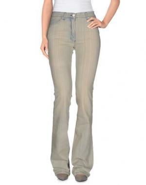Джинсовые брюки LAURA BIAGIOTTI. Цвет: бежевый