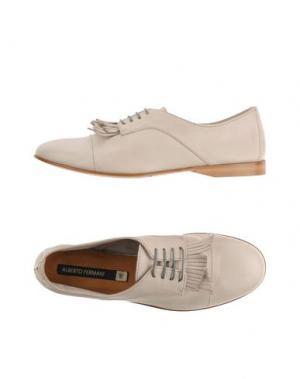 Обувь на шнурках ALBERTO FERMANI. Цвет: светло-серый