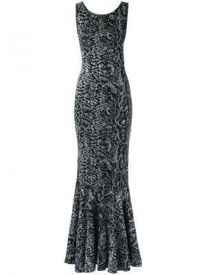 Трикотажное вечернее платье Cecilia Prado. Цвет: чёрный