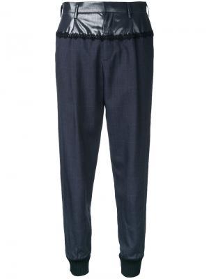 Укороченные брюки в клетку Kolor. Цвет: синий