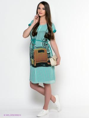 Платье EUROMAMA. Цвет: зеленый