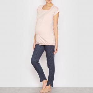Пижама для периода беременности и грудного вскармливания COCOON. Цвет: синий/наб. рисунок