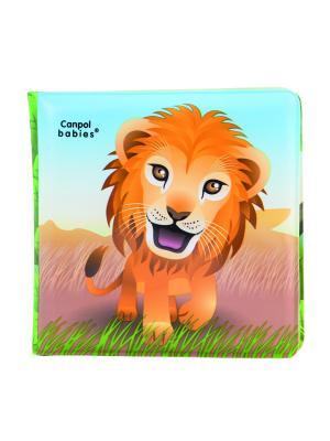 Книжка с пищалкой, 6+, рисунок: львенок Canpol babies. Цвет: желтый