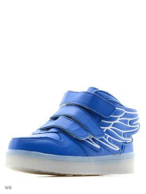 Светящиеся кроссовки Kids Wings LedShoes. Цвет: синий, розовый