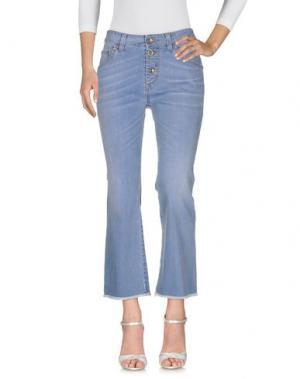 Джинсовые брюки NOLITA. Цвет: синий