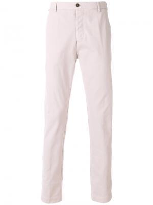 Зауженные брюки-чинос Al Duca D'Aosta 1902. Цвет: розовый и фиолетовый
