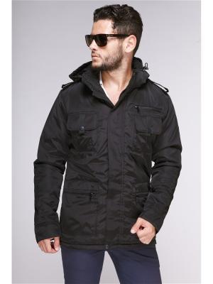 Куртка мужская Nikolom. Цвет: черный