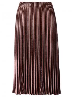 Knit midi skirt Gig. Цвет: коричневый