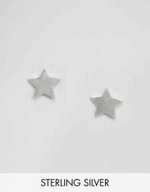 Fashionology Серебряные серьги-гвоздики. Цвет: серебряный
