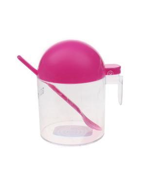 Сахарница, 0,5 л. Migura. Цвет: прозрачный, розовый