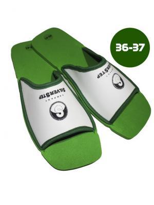 И1150 Тапочки для снятия усталости и тяжести в ногах, р-р 36-37 SilverStep. Цвет: зеленый