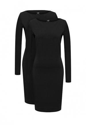 Комплект платьев 2 шт. oodji. Цвет: черный
