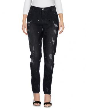 Джинсовые брюки L'AIR DE RIEN. Цвет: черный