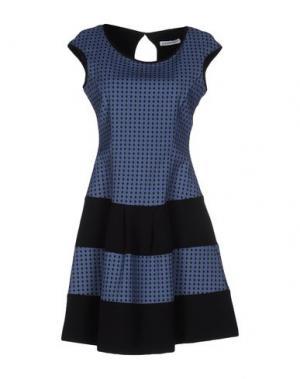 Короткое платье ANGELA MELE MILANO. Цвет: пастельно-синий