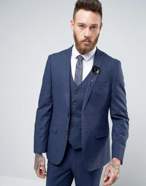Harry Brown Узкий пиджак. Цвет: синий