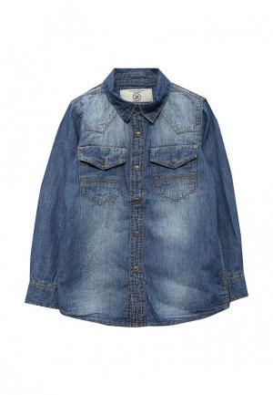 Рубашка джинсовая Piazza Italia. Цвет: синий