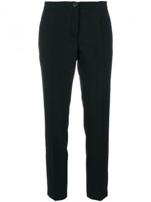 Классические укороченные брюки Erika Cavallini. Цвет: чёрный