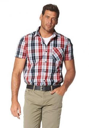 Рубашка с коротким рукавом Grey Connection. Цвет: красный + черный + белый
