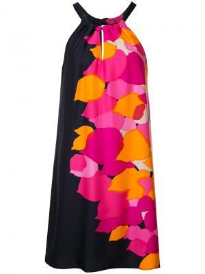 Платье с вырезом-петлей халтер Trina Turk. Цвет: чёрный