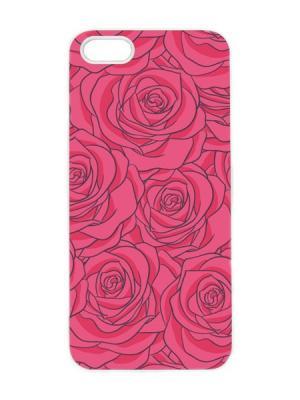 Чехол для iPhone 5/5s Малиновые розы Арт. IP5-096 Chocopony. Цвет: розовый