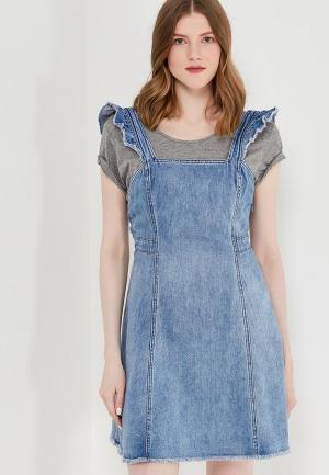 Платье джинсовое Only. Цвет: голубой