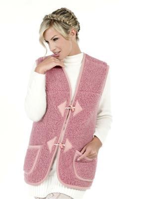 Жилет ALWERO. Цвет: розовый