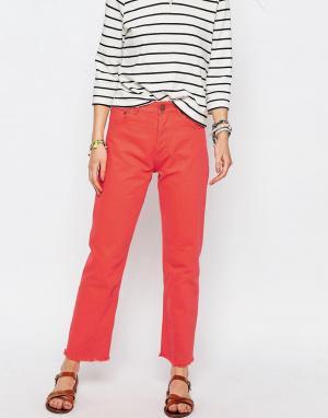 ASOS Прямые джинсы FLORENCE. Цвет: оранжевый