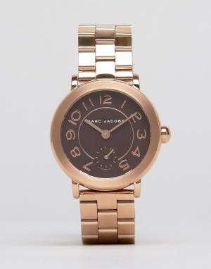 Marc Jacobs Часы цвета розового золота Riley MJ3489. Цвет: золотой