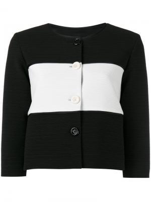 Полосатый пиджак Boutique Moschino. Цвет: чёрный