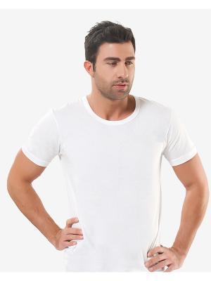 Футболка Oztas underwear. Цвет: белый