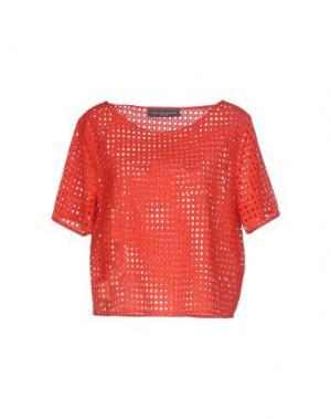 Блузка CARLA MONTANARINI. Цвет: красный
