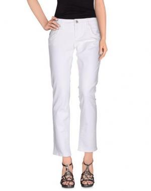 Джинсовые брюки RA-RE. Цвет: белый