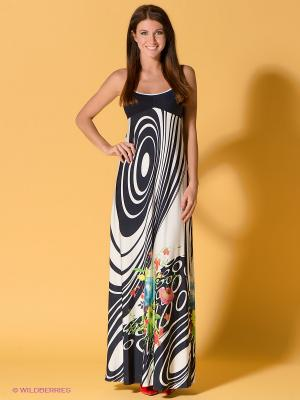 Платье FRENCH HINT. Цвет: темно-синий