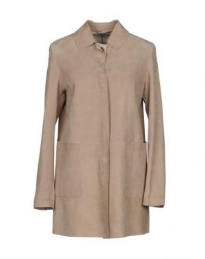 Легкое пальто SALVATORE SANTORO. Цвет: песочный