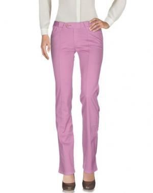 Повседневные брюки BARBA Napoli. Цвет: светло-фиолетовый