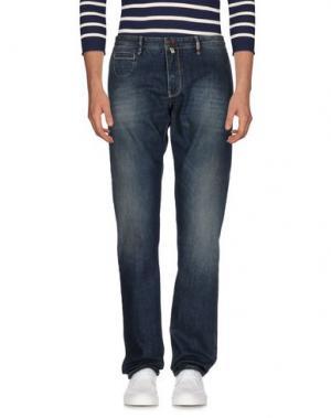 Джинсовые брюки GIO ZUBON. Цвет: синий