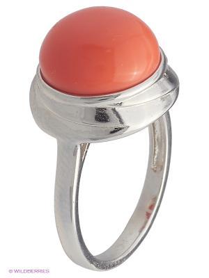 Кольцо BALEX. Цвет: серебристый, коралловый