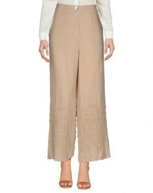Повседневные брюки LA FABBRICA del LINO. Цвет: песочный