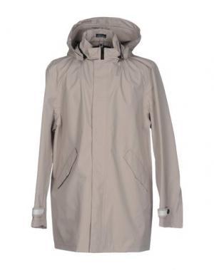 Легкое пальто DIMATTIA. Цвет: светло-серый