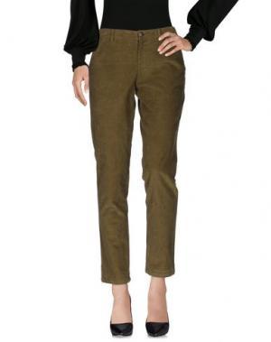 Повседневные брюки MASSCOB. Цвет: зеленый-милитари