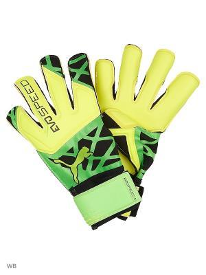 Перчатки вратарские evoSPEED 3.5 Puma. Цвет: желтый