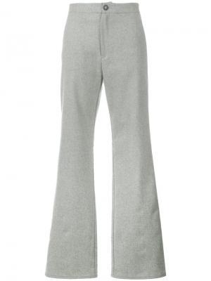 Расклешенные брюки Lot78. Цвет: серый