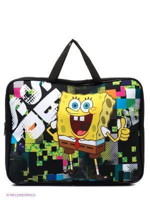 Папка-сумка Губка Боб Centrum. Цвет: черный, желтый, белый