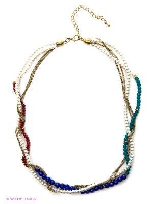 Ожерелье Модные истории. Цвет: синий