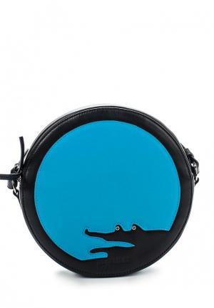 Сумка Jil Sander Navy. Цвет: голубой