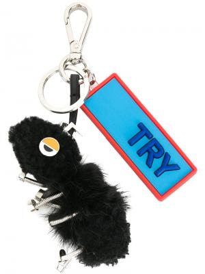 Брелок Ant Bag Charm Fendi. Цвет: чёрный