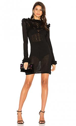 Платье свитер victoria Carolina K. Цвет: черный