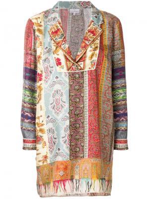 Блузка-шифт с вышивкой Pierre-Louis Mascia. Цвет: многоцветный