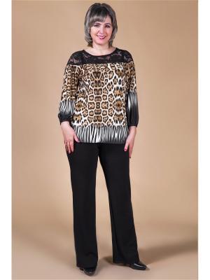 Блузка Милада. Цвет: черный, коричневый