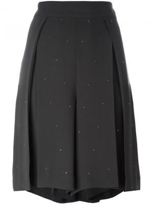 Широкие плиссированные шорты Muveil. Цвет: серый